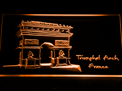 France Triumphal Arch LED Neon Sign - Orange - SafeSpecial