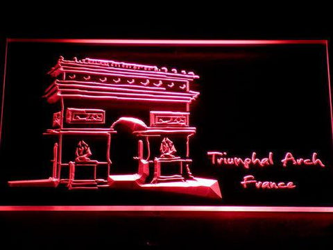 Image of France Triumphal Arch LED Neon Sign - Red - SafeSpecial