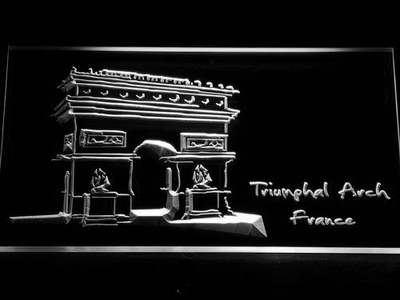 France Triumphal Arch LED Neon Sign - White - SafeSpecial
