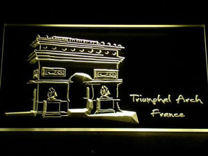 France Triumphal Arch LED Neon Sign - Yellow - SafeSpecial