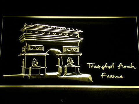 Image of France Triumphal Arch LED Neon Sign - Yellow - SafeSpecial