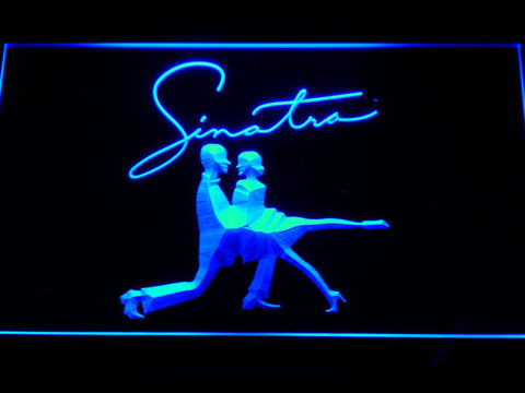 Frank Sinatra Silhouettes LED Neon Sign - Blue - SafeSpecial