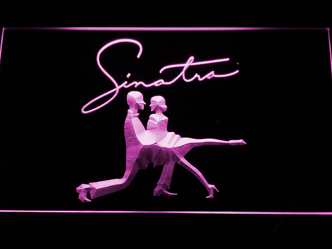 Frank Sinatra Silhouettes LED Neon Sign - Purple - SafeSpecial