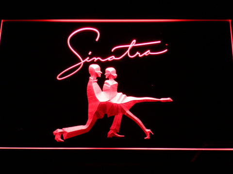 Frank Sinatra Silhouettes LED Neon Sign - Red - SafeSpecial