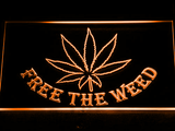 Free the Weed LED Neon Sign - Orange - SafeSpecial