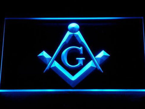Image of Freemasonry LED Neon Sign - Blue - SafeSpecial