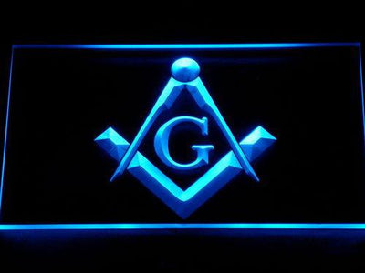 Freemasonry LED Neon Sign - Blue - SafeSpecial