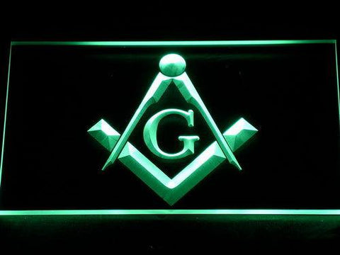 Image of Freemasonry LED Neon Sign - Green - SafeSpecial