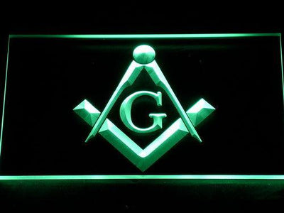 Freemasonry LED Neon Sign - Green - SafeSpecial