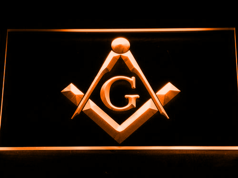 Image of Freemasonry LED Neon Sign - Orange - SafeSpecial