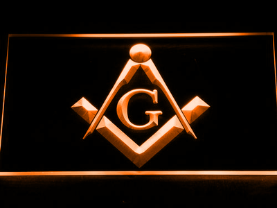 Freemasonry LED Neon Sign - Orange - SafeSpecial