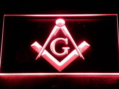 Freemasonry LED Neon Sign - Red - SafeSpecial