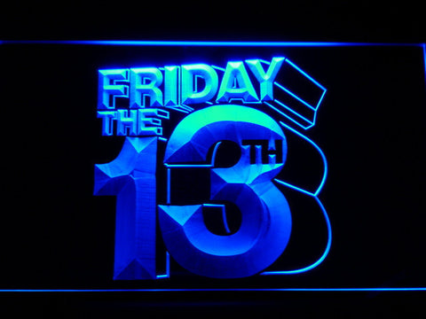 Friday The 13th LED Neon Sign - Blue - SafeSpecial