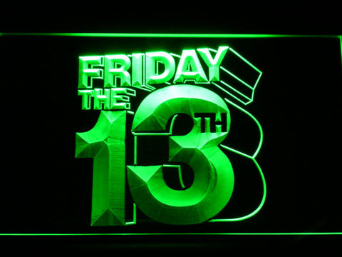 Friday The 13th LED Neon Sign - Green - SafeSpecial