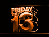 Friday The 13th LED Neon Sign - Orange - SafeSpecial
