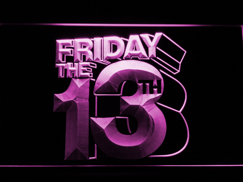 Friday The 13th LED Neon Sign - Purple - SafeSpecial