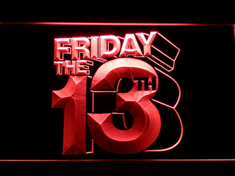 Friday The 13th LED Neon Sign - Red - SafeSpecial