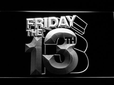 Friday The 13th LED Neon Sign - White - SafeSpecial