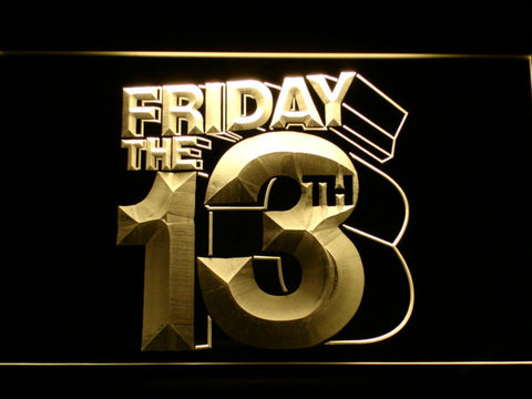 Friday The 13th LED Neon Sign - Yellow - SafeSpecial
