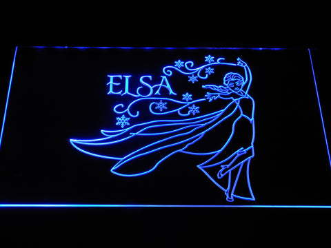 Frozen Elsa LED Neon Sign - Blue - SafeSpecial