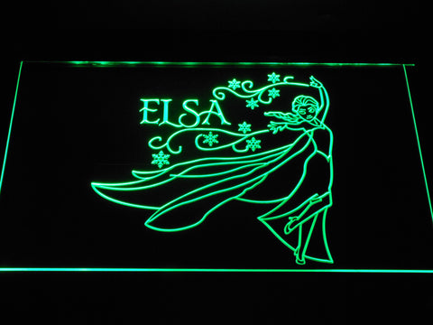 Frozen Elsa LED Neon Sign - Green - SafeSpecial
