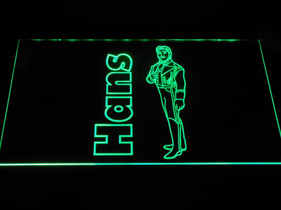 Frozen Hans LED Neon Sign - Green - SafeSpecial