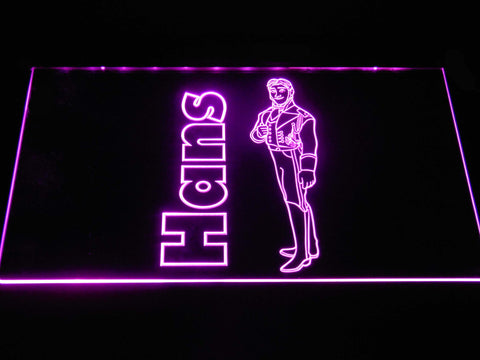 Image of Frozen Hans LED Neon Sign - Purple - SafeSpecial