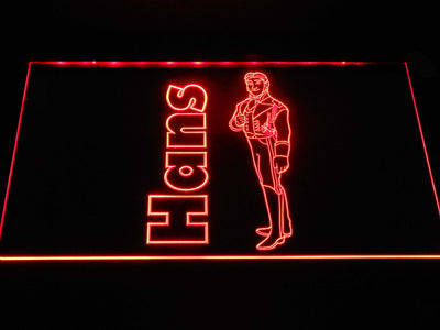 Frozen Hans LED Neon Sign - Red - SafeSpecial
