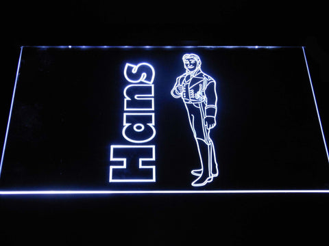 Image of Frozen Hans LED Neon Sign - White - SafeSpecial