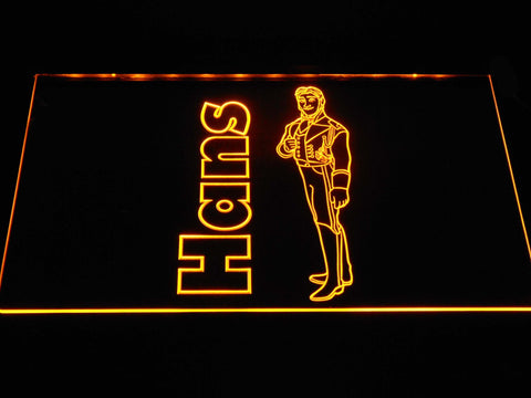 Image of Frozen Hans LED Neon Sign - Yellow - SafeSpecial
