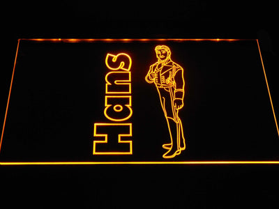 Frozen Hans LED Neon Sign - Yellow - SafeSpecial