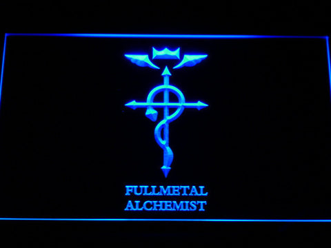 Image of Full Metal Alchemist Flamel's Cross LED Neon Sign - Blue - SafeSpecial
