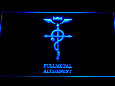 Full Metal Alchemist Flamel's Cross LED Neon Sign - Blue - SafeSpecial