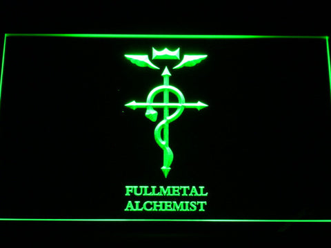 Image of Full Metal Alchemist Flamel's Cross LED Neon Sign - Green - SafeSpecial