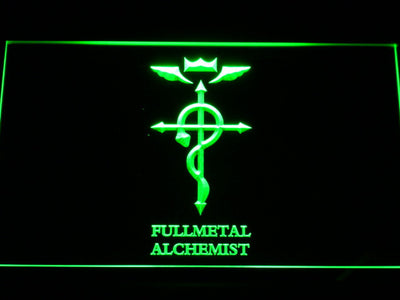 Full Metal Alchemist Flamel's Cross LED Neon Sign - Green - SafeSpecial