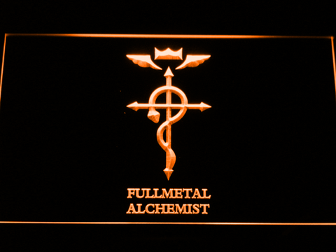 Image of Full Metal Alchemist Flamel's Cross LED Neon Sign - Orange - SafeSpecial