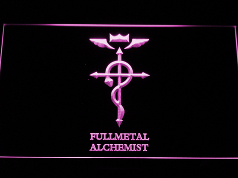 Image of Full Metal Alchemist Flamel's Cross LED Neon Sign - Purple - SafeSpecial