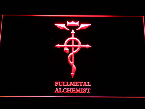 Image of Full Metal Alchemist Flamel's Cross LED Neon Sign - Red - SafeSpecial