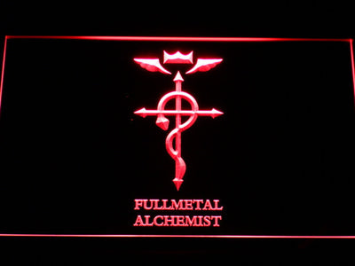 Full Metal Alchemist Flamel's Cross LED Neon Sign - Red - SafeSpecial