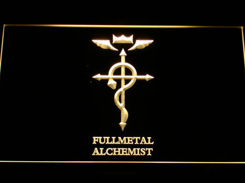 Image of Full Metal Alchemist Flamel's Cross LED Neon Sign - Yellow - SafeSpecial