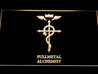 Full Metal Alchemist Flamel's Cross LED Neon Sign - Yellow - SafeSpecial