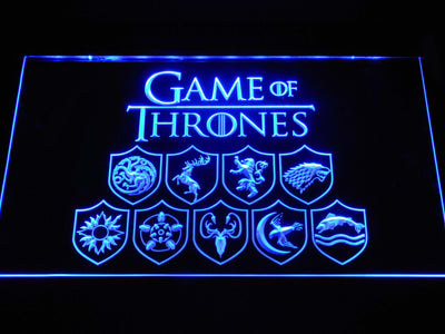 Game of Thrones Family Sigils LED Neon Sign - Blue - SafeSpecial