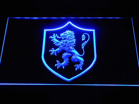 Image of Game of Thrones Lannister Lion Sigil LED Neon Sign - Blue - SafeSpecial