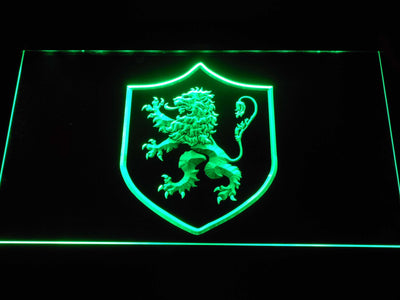 Game of Thrones Lannister Lion Sigil LED Neon Sign - Green - SafeSpecial