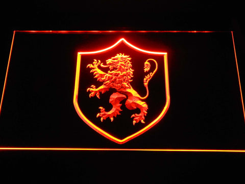Image of Game of Thrones Lannister Lion Sigil LED Neon Sign - Orange - SafeSpecial