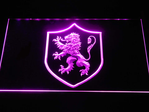 Image of Game of Thrones Lannister Lion Sigil LED Neon Sign - Purple - SafeSpecial