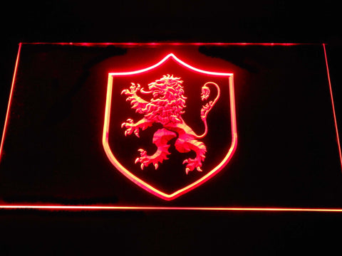 Image of Game of Thrones Lannister Lion Sigil LED Neon Sign - Red - SafeSpecial