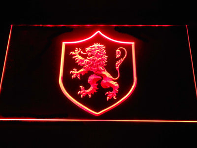 Game of Thrones Lannister Lion Sigil LED Neon Sign - Red - SafeSpecial