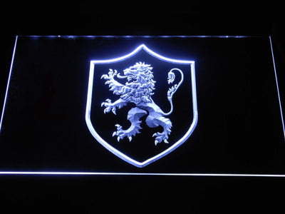 Game of Thrones Lannister Lion Sigil LED Neon Sign - White - SafeSpecial