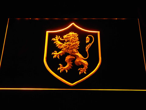 Image of Game of Thrones Lannister Lion Sigil LED Neon Sign - Yellow - SafeSpecial